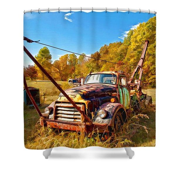 1950 Gmc Truck Shower Curtain