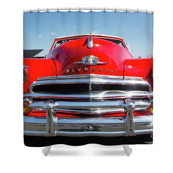 1950 Plymouth Automobile Shower Curtain