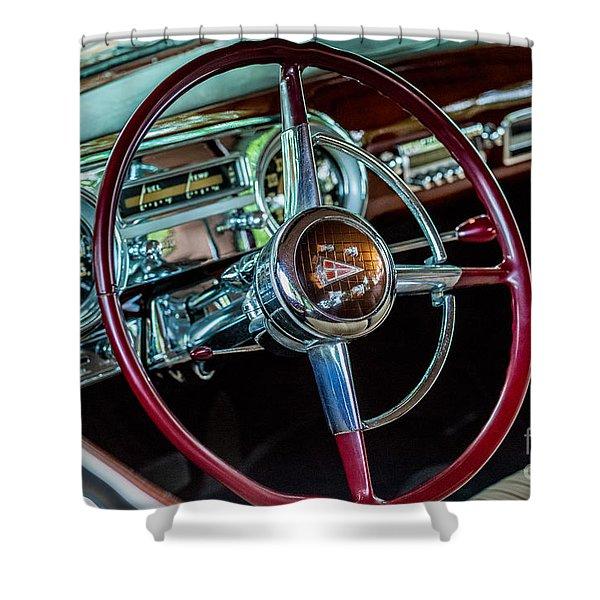 1951 Hudson Hornet Shower Curtain