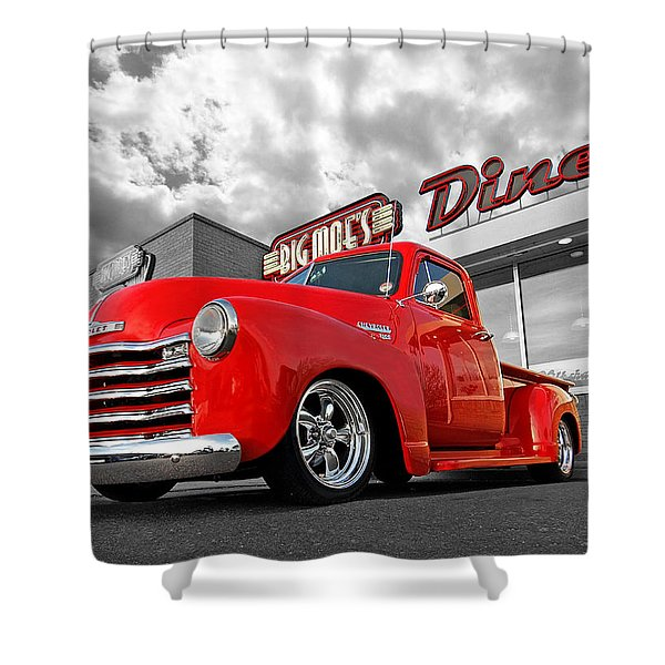 1952 Chevrolet Truck At The Diner Shower Curtain