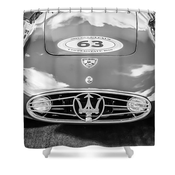 1954 Maserati A6 Gcs -0255bw Shower Curtain