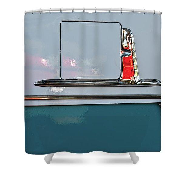 1955 Chevy Belair 2 Door Shower Curtain