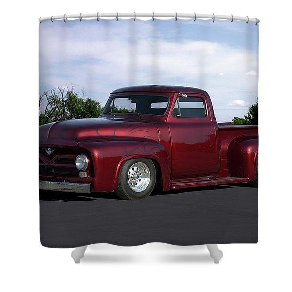 1955 Ford Pickup Shower Curtain