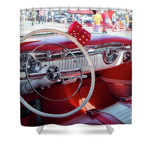 1955 Oldsmobile Interior Shower Curtain
