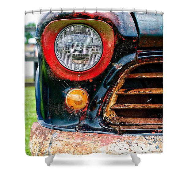1956 Chevy 3200 Pickup Grill Detail Shower Curtain