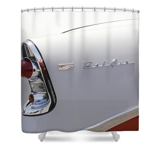 1956 Chevy Belair Shower Curtain