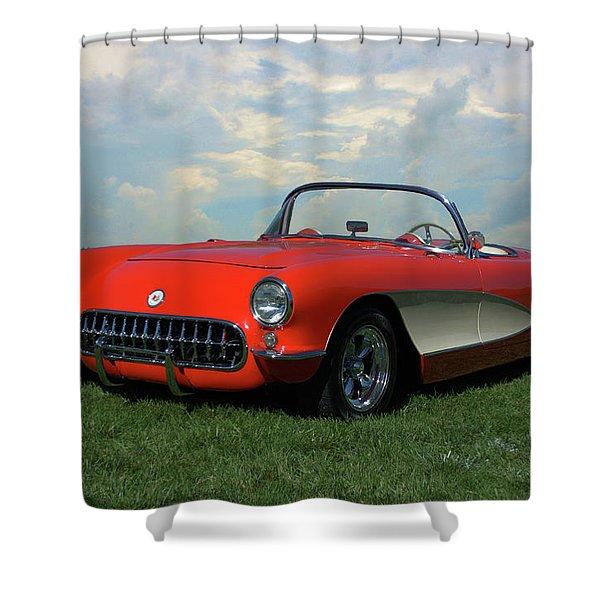 1956 Corvette Shower Curtain