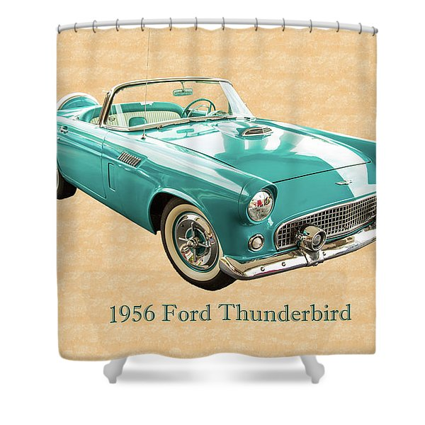 1956 Ford Thunderbird 5510.03 Shower Curtain