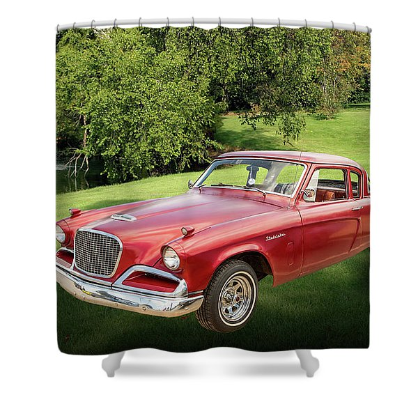 1956 Studebaker Power Hawk 5543.03 Shower Curtain