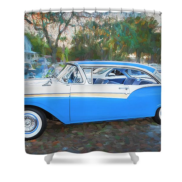 1957 Ford 2 Door Fairlane C130 Shower Curtain