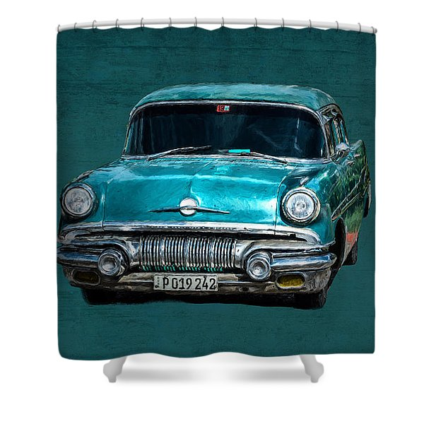 1957 Pontiac Bonneville Shower Curtain