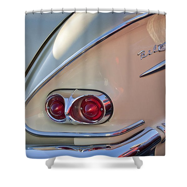 1958 Chevrolet Belair Taillight Shower Curtain