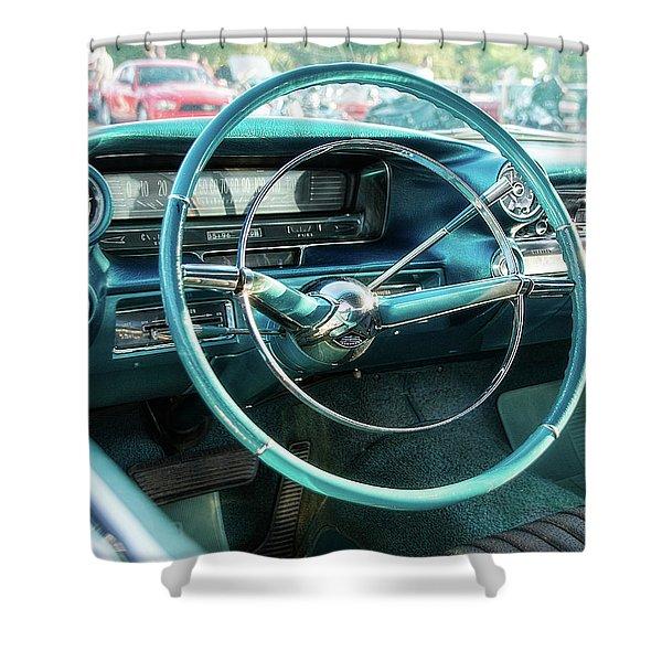 1959 Cadillac Sedan Deville Series 62 Dashboard Shower Curtain