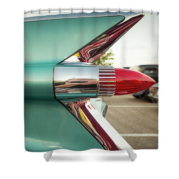1959 Cadillac Sedan Deville Series 62 Tail Fin Shower Curtain