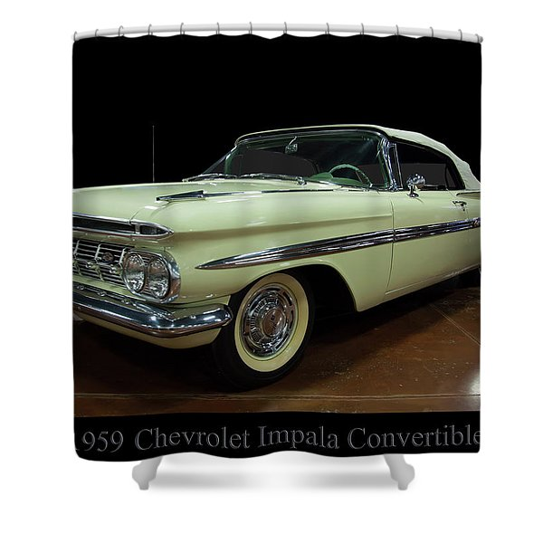 1959 Chevy Impala Convertible Shower Curtain