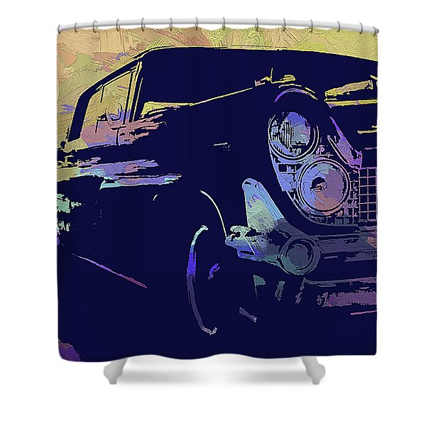 1959 Lincoln Continental Abs Shower Curtain