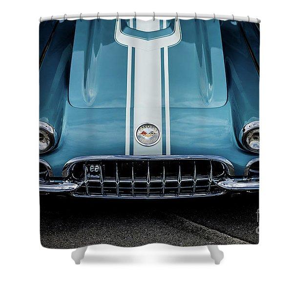 1960 Corvette Shower Curtain