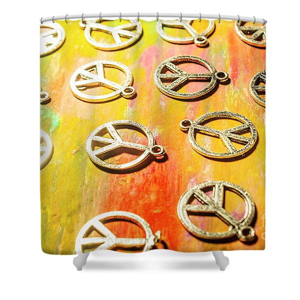 1960s Peace Movement Shower Curtain