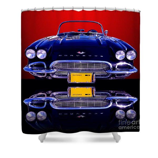 1961 Chevy Corvette Shower Curtain