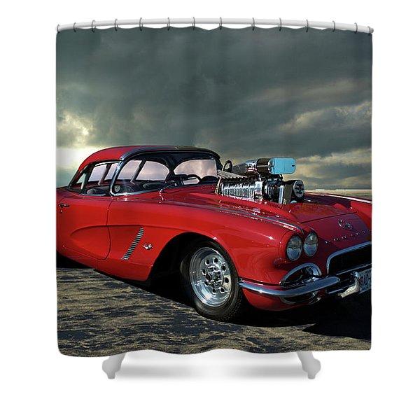 1962 Corvette Dragster Shower Curtain