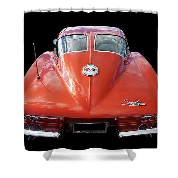 1963 Corvette Stingray Split Window Rear Shower Curtain