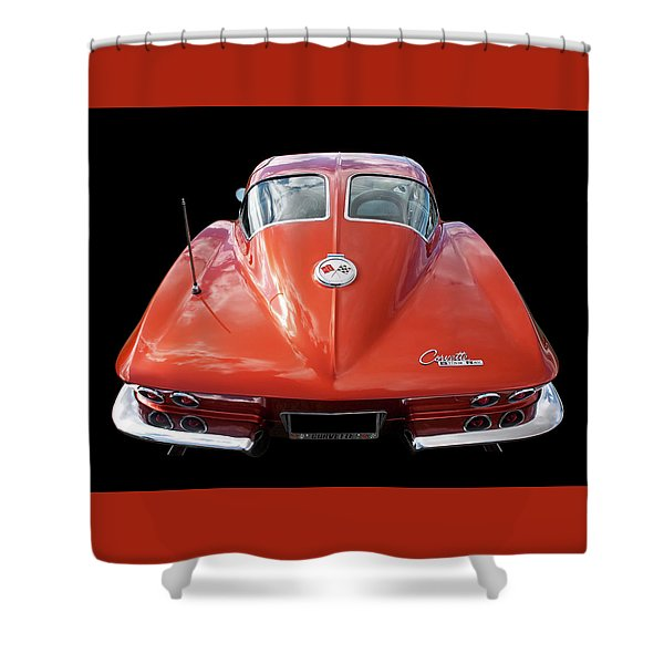 1963 Corvette Stingray Split Window Rear Shower Curtain