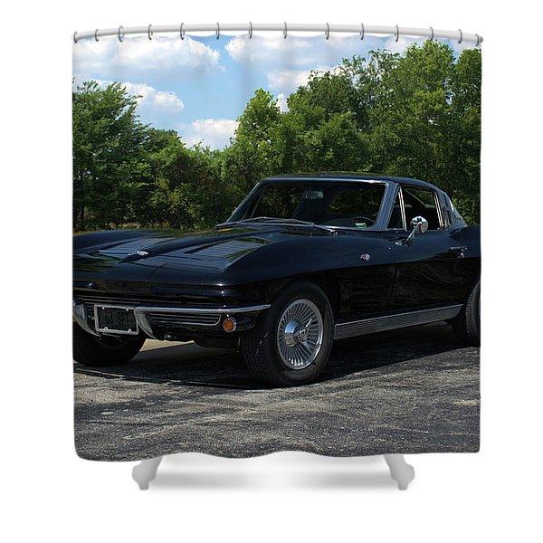 1963 Corvette Stingray Shower Curtain