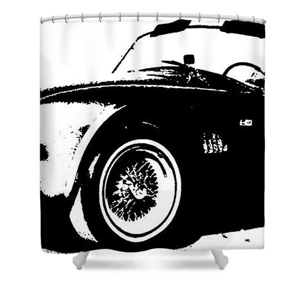 1964 Shelby Cobra Sketch Shower Curtain