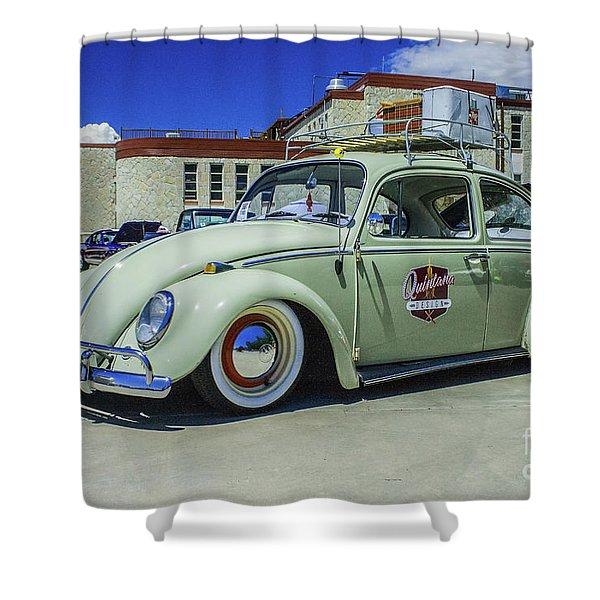 1965 Volkswagen Bug Shower Curtain