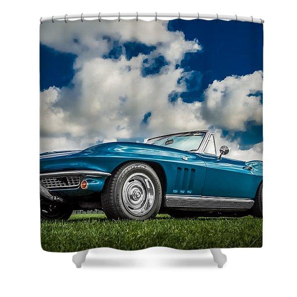 1966 Corvette Stingray  Shower Curtain