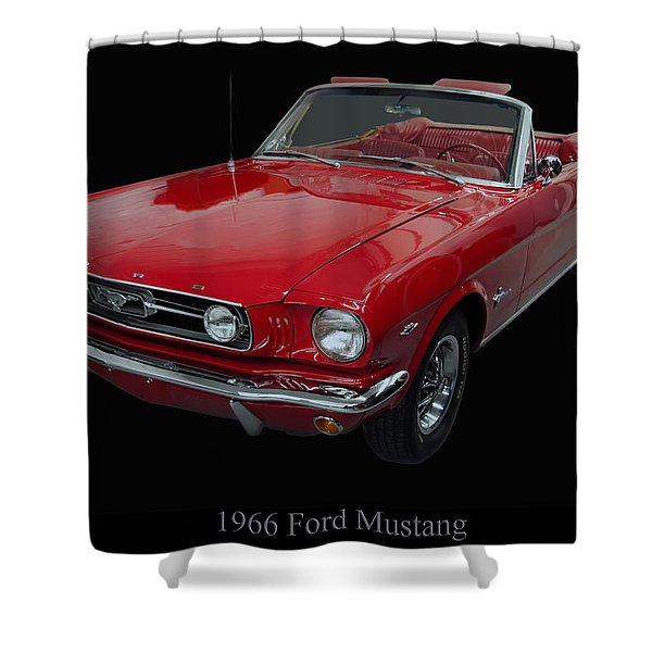 1966 Ford Mustang Convertible Shower Curtain
