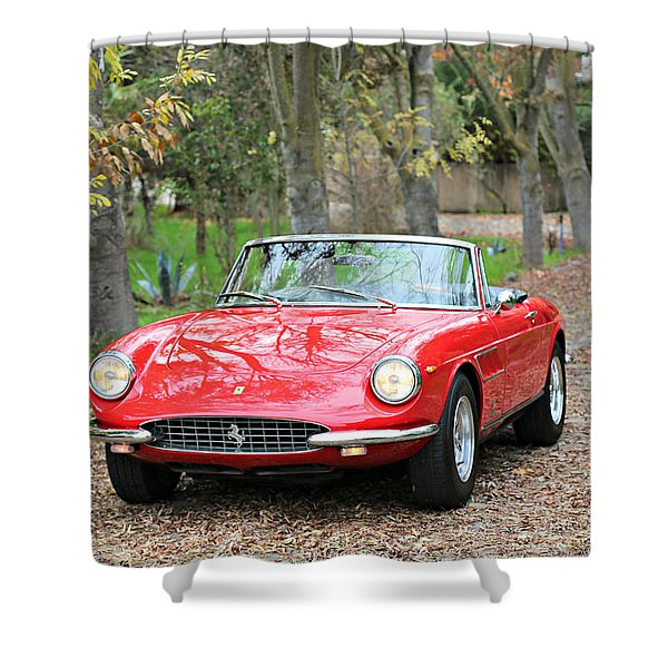 1967 Ferrari 330 G T S Shower Curtain