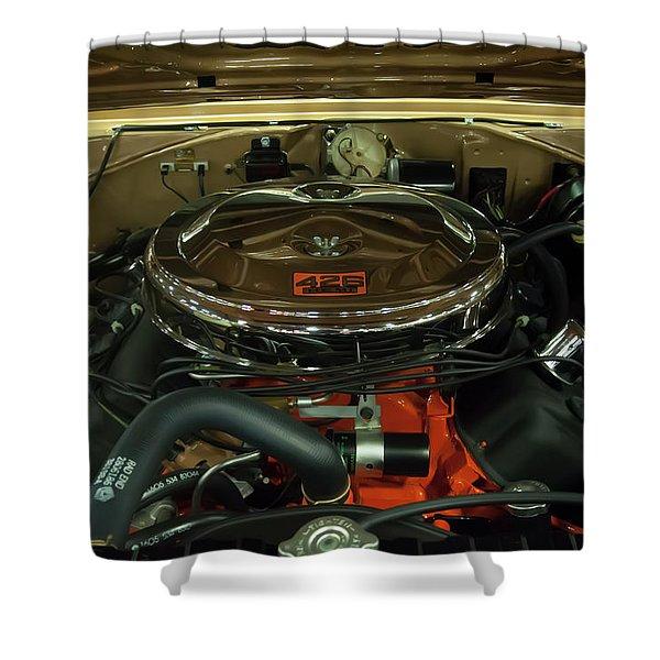 1967 Plymouth Belvedere Gtx 426 Hemi Motor Shower Curtain