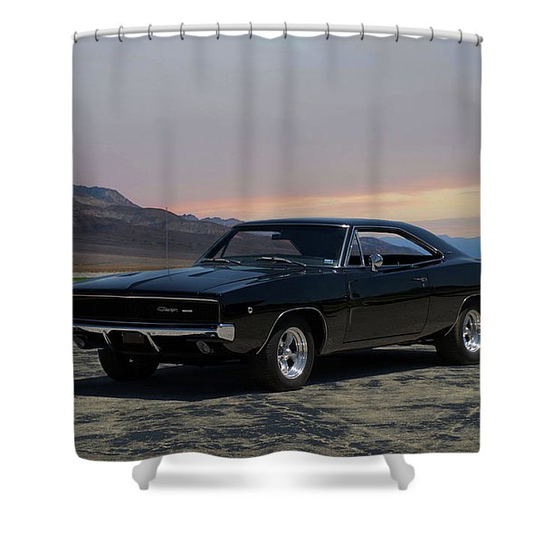 1968 Dodge Charger Rt 440 Shower Curtain