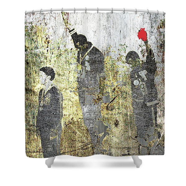 1968 Olympics Black Power Salute Shower Curtain
