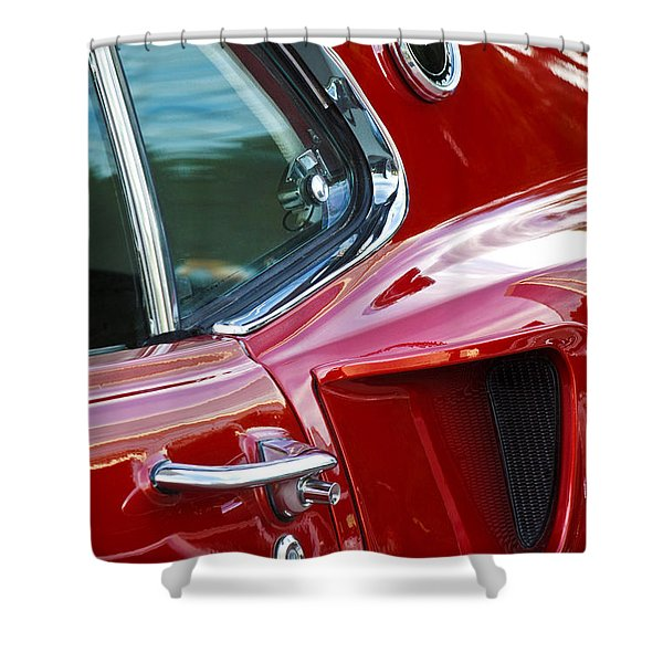 1969 Ford Mustang Mach 1 Side Scoop Shower Curtain