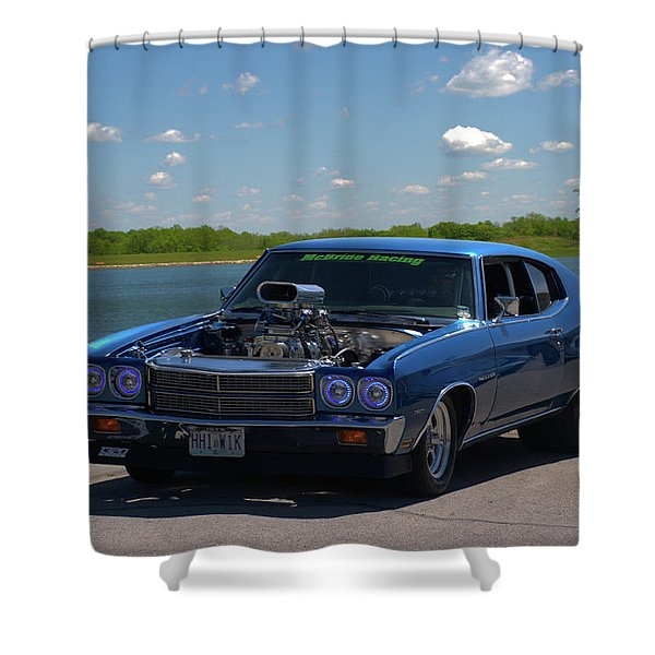 1970 Chevelle Pro Street Dragster Shower Curtain