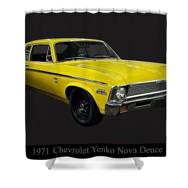 1971 Chevy Nova Yenko Deuce Shower Curtain