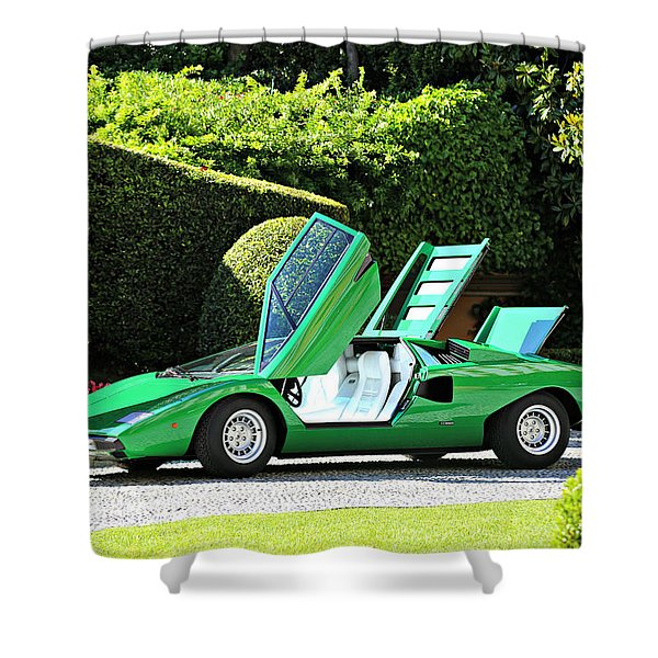 1975 Lamborghini P400 Countach Shower Curtain