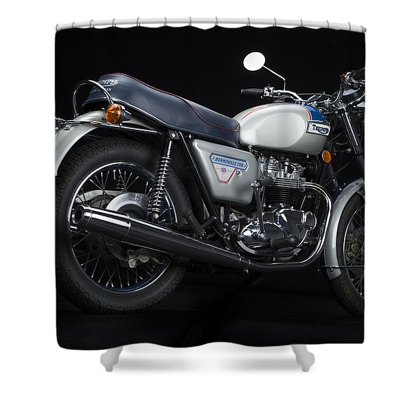 1977 Triumph Bonneville Silver Jubilee Shower Curtain