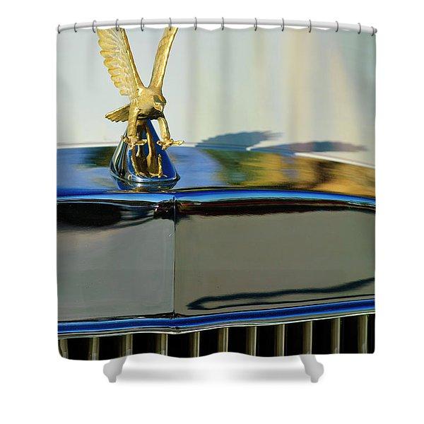 1986 Zimmer Golden Spirit Hood Ornament 2 Shower Curtain by Jill Reger