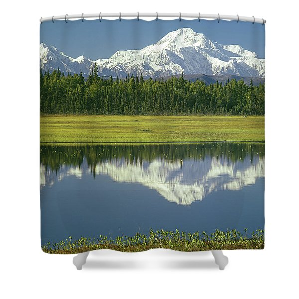 1m1325 Mt. Hunter And Mt. Denali Shower Curtain