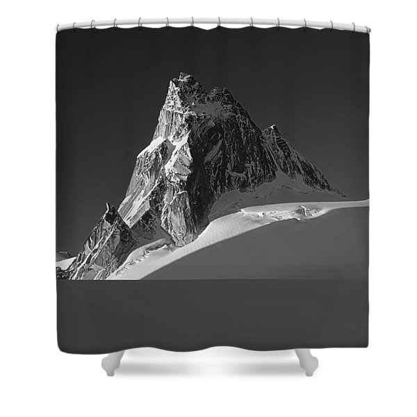 1m2716-bw Sunrise On Pigeon Spire Shower Curtain