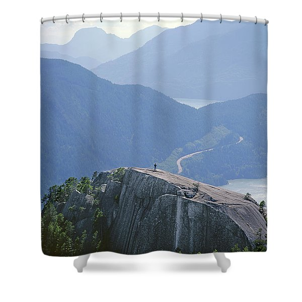 1m2918 South Summit Stawamus Chief From Second Summit Shower Curtain