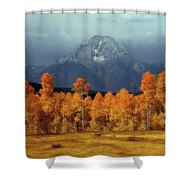 1m9235 Mt. Moran In Autumn Shower Curtain