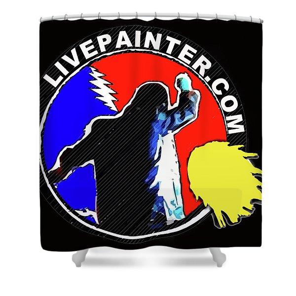 1st Live Painter Logo Shower Curtain