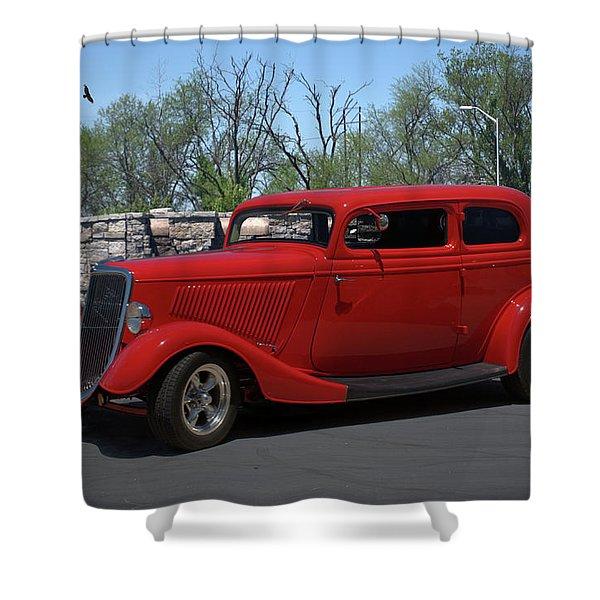 1934 Ford Sedan Hot Rod Shower Curtain