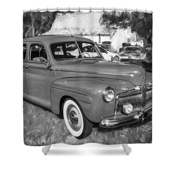 1942 Ford Super Deluxe Sedan Bw  Shower Curtain