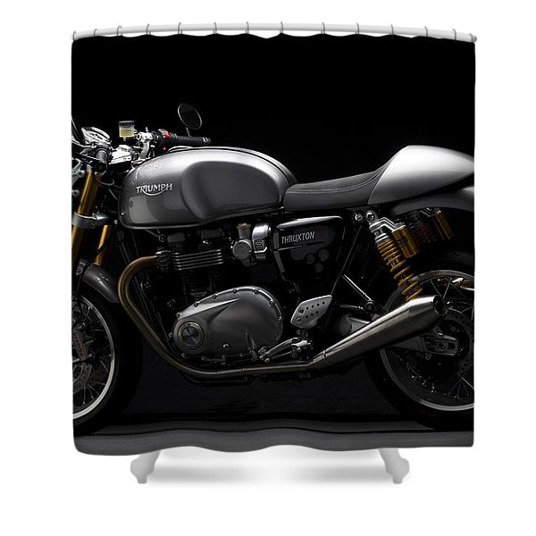 2016 Triumph Thruxton R Shower Curtain
