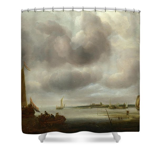 A Coast Scene Shower Curtain